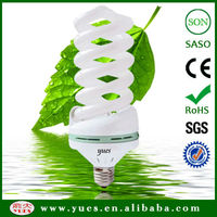 55W 17mm 6000hours Spiral Compact Fluorescent Lamp CFL