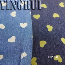 printing denim fabric with popular pattern in stock