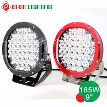 ARB spotlight 185w high power black and red led light for cars