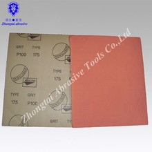 red colour dry and wet abrasive sandpaper sheet