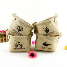 screen printing jute tote bag,jute shopping bag,fashion jute bag for candy
