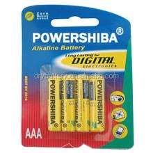 Powershiba brand alkaline battery AA alkaline battery