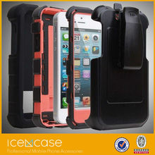 2 in 1 Silicon PC Case for iPhone 5/5c/5s /Dual Color Hard protective Back Case Cover