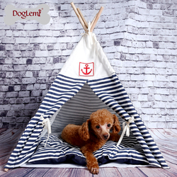 Indian Foldable Pet Tent Dog Cat Kennel Nest Wood Pet Puppy Igloo House