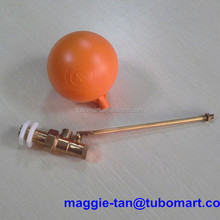 1/2ins BSP float brass valves check with plastic ball floats 4 1/2ins diameter