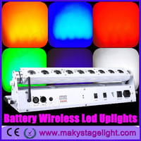 Guangzhou led stage light/9 lens wireless battery operated led uplights/led moving head wash