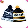 Wholesale custom warm knitting hat with pom pom,100 acrylic beanie hat