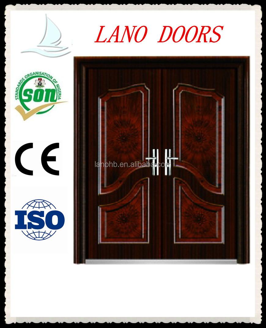 Safety double door design with grill stainless steel door Main entrance door grill
