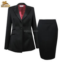 elegant performance business women office uniform designs of ladies office suits with skirt