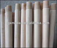 smooth surface natural thick wooden broom stick