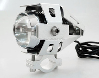 Super Bright U5 With Lens 6000K 12V LED with Silver Housing U5 Silver Motorcycle Headlight