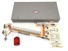 """102/5 0.2-0-2""""Inclined&Vertical Portable Manometer Air Velocity Gauge Gage"""