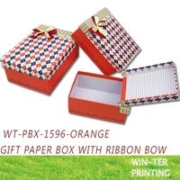 WT-PBX-1596-orange Paper gift packing box