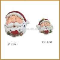 Ceramic christmas decorations santa claus head craft