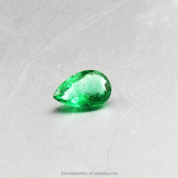 Stock Natural loose Gemstones VVS Colombia Emerald 6.22*8.2*3.88/1.255ct