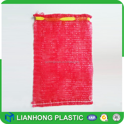 Experienced factory mesh bag with drawstring, good design tubular mesh bag for vegetables, wholesale very cheap pp mesh bag