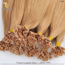China Supplier Factory Wholesale No Dry No Tangle russian u nail tip hair extention