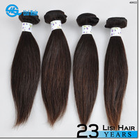 2015 Best Selling leading hair maufacturer Double Weft no shedding straight request hair products