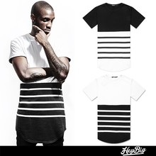 Fashion Black and White Striped Men T Shirt Wholesale China, Cotton Shirts For Men High Quality