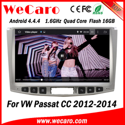 Wecaro WC-WU1011 Android 4.4.4 car dvd player HD for vw passat cc navigation screen with camera 2012 2013 2014 Wifi&3G