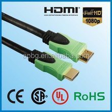 Factory OEM ODM hdmi cable with gold plated high speed support 2.0v 1.4v