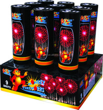 New Material Consumer Cake Fireworks 3'' 9Shots Display Shell fireworks