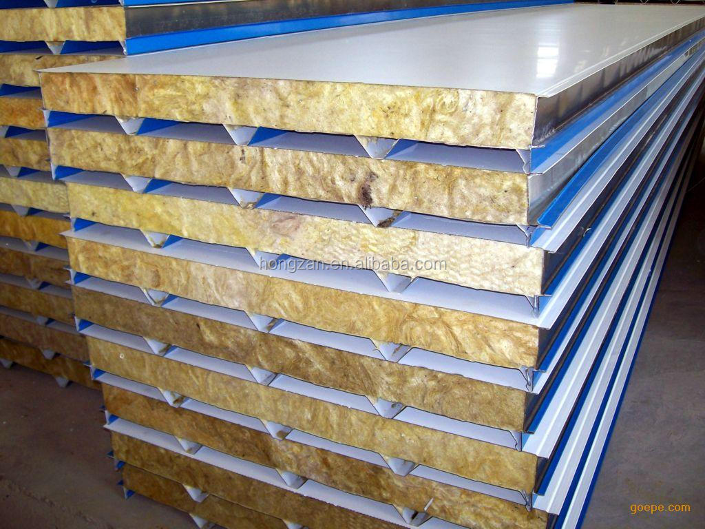 Glassfiber Rock Wool Sandwich Panel For Ship Hull Building