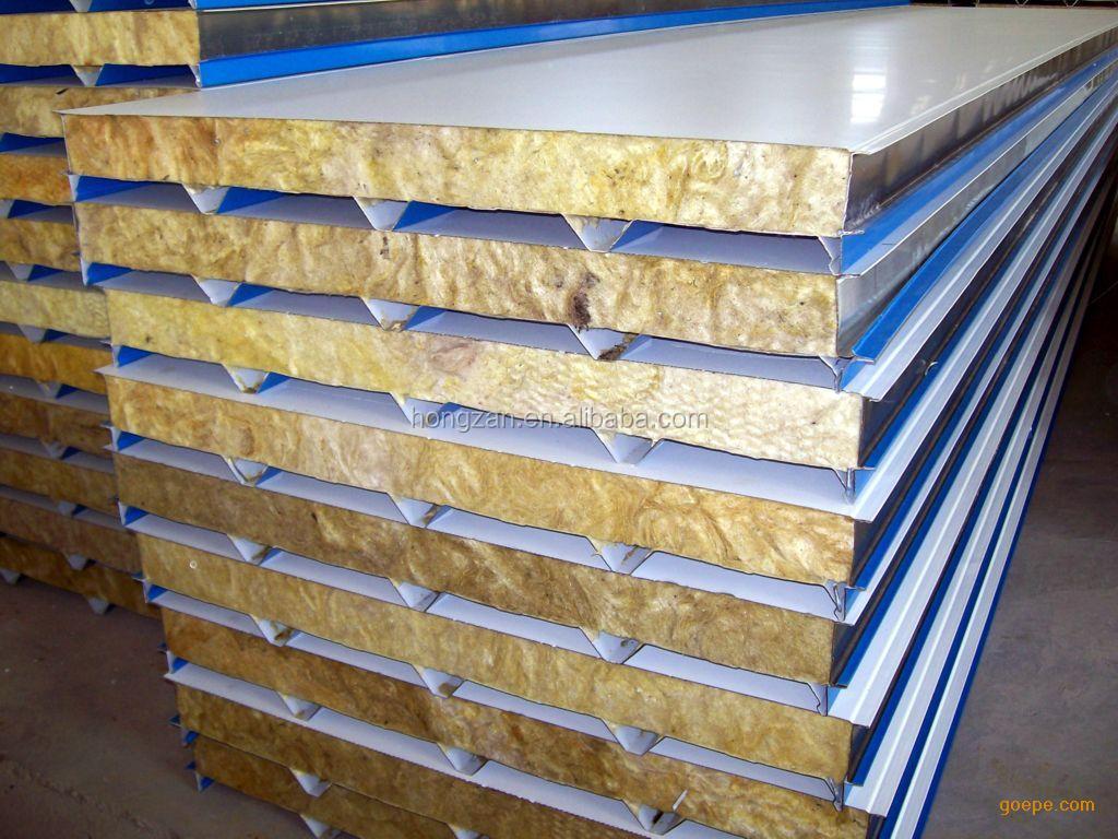 Rock Wool Sandwich Panel : Glassfiber rock wool sandwich panel for ship hull building