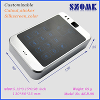 Door control plastic case with button