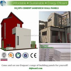 2015 cheaper light steel precast villas home with EPS cement sandwich wall panel
