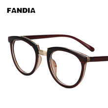 ewfdy 5095 new male and female models retro fashion frame plain mirror myopia frame student wholesale
