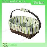 Fashion Wicker Cabas,Fabric Willow Basket With Handle