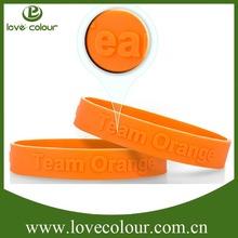 Popular custom silicone promotion bracelet/festival embossed wristband