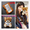 Best gift Lovely phone case for girls cute bear silicon phone case for apple iphones