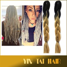 "24"" SYNTHETIC JUMBO BRAIDING HAIR OMBRE COLOR 100G/PC 26 COLORS IN STOCK OMBRE KANEKALON SYNTHETIC HAIR"