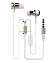 Hifi metal earphone new products for promotional with case