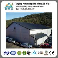 customize good insulation prefabricated steel warehouse in europe