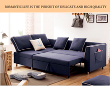 sofa bed with magazine bag and storage modern sofa cum bed