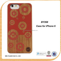 China Factory OEM Supplier Unique Design Natural Wood Cover for iPhone 6 Real Wood Cover