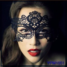 China alibaba hot women sexy lace mask,low cost birthday party mask,black lace masquerade party mask