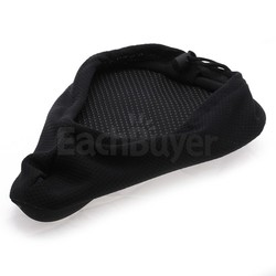 Black Cycling Bike Bicycle 3D Silicone Soft Saddle Cushion Seat Pad Cover
