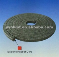Graphite ptfe with silicone rubber core braided packing