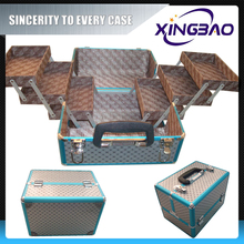 Indoor shockproof cosmetic case,color hairdresser cosmetic case with nylon and inner box,aluminum cosmetic case