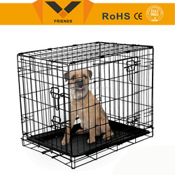 Dog house cage,foldable steel dog cage,metal wire dog cage