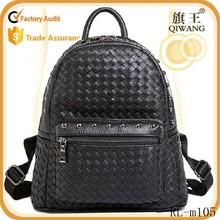 2015 stylish backpack black big students school bag black bag knitting bag