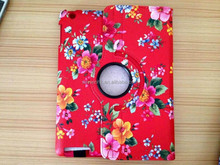 Hot Sell Rotating Leather Stand 360 degree Tablet Cover For iPad (Red)