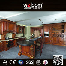 Cherry Wood Newest High End New Trendy Rosewood Kitchen Cabinets