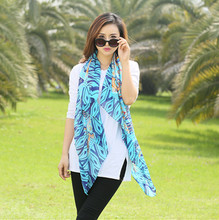 The new simulation silk scarf beach towel sunscreen air conditioning cape scarf national wind retro cheap silk scarves