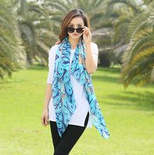 simulation silk scarf beach towel sunscreen air conditioning cape scarf national wind retro cheap silk scarf