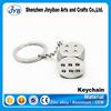 popular design mini dice shaped keyring game gamble theme souvenir keychain